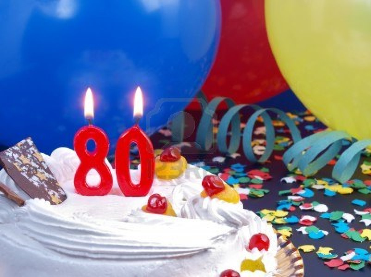 15729178 Birthday Cake With Red Candles Showing Nr 80 Boulevard